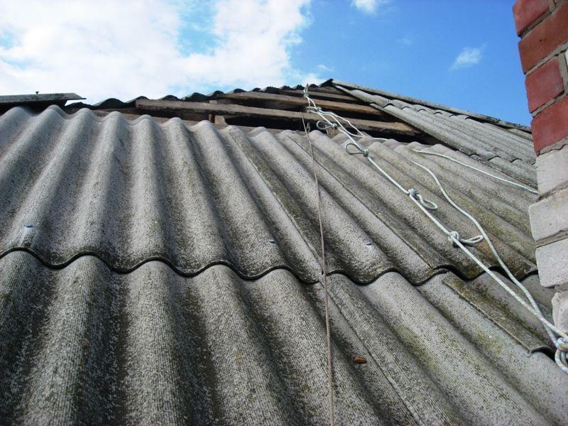 скатная крыша многоквартирного дома